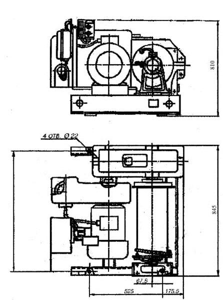Лебедка У5120.60 в разрезе схема